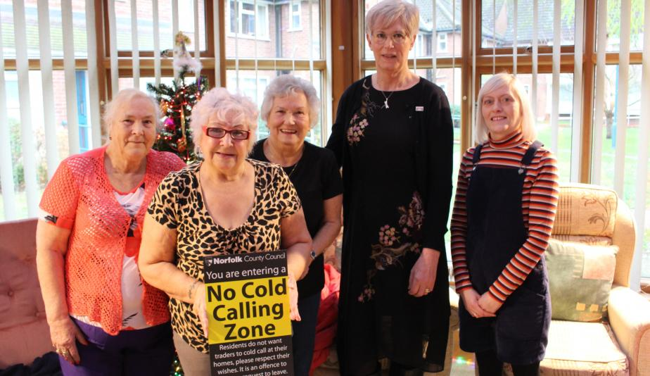 Lanchester Court residents joined by Norwich Housing Society staff